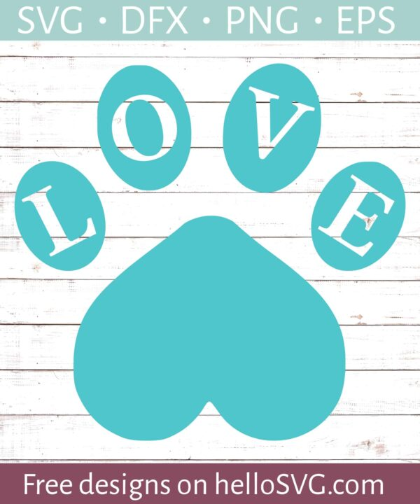 LOVE with Paw Print #2