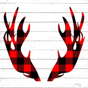 Antlers in Buffalo Plaid