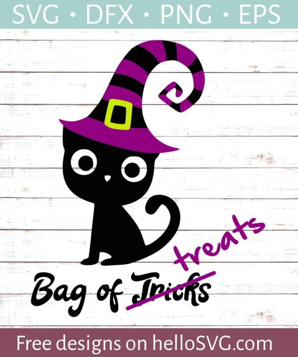 Black Cat Witch - Trick Or Treat Bag