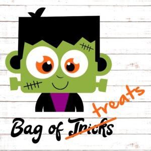 Cute Frankenstein - Trick Or Treat Bag