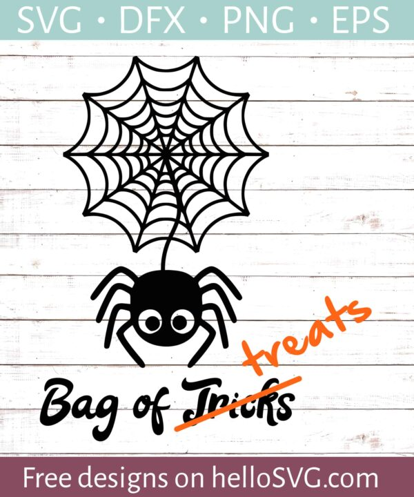 Spider Web - Trick Or Treat Bag