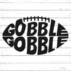 Gobble Gobble Football SVG