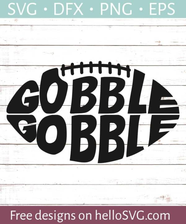 Gobble Gobble Football SVG