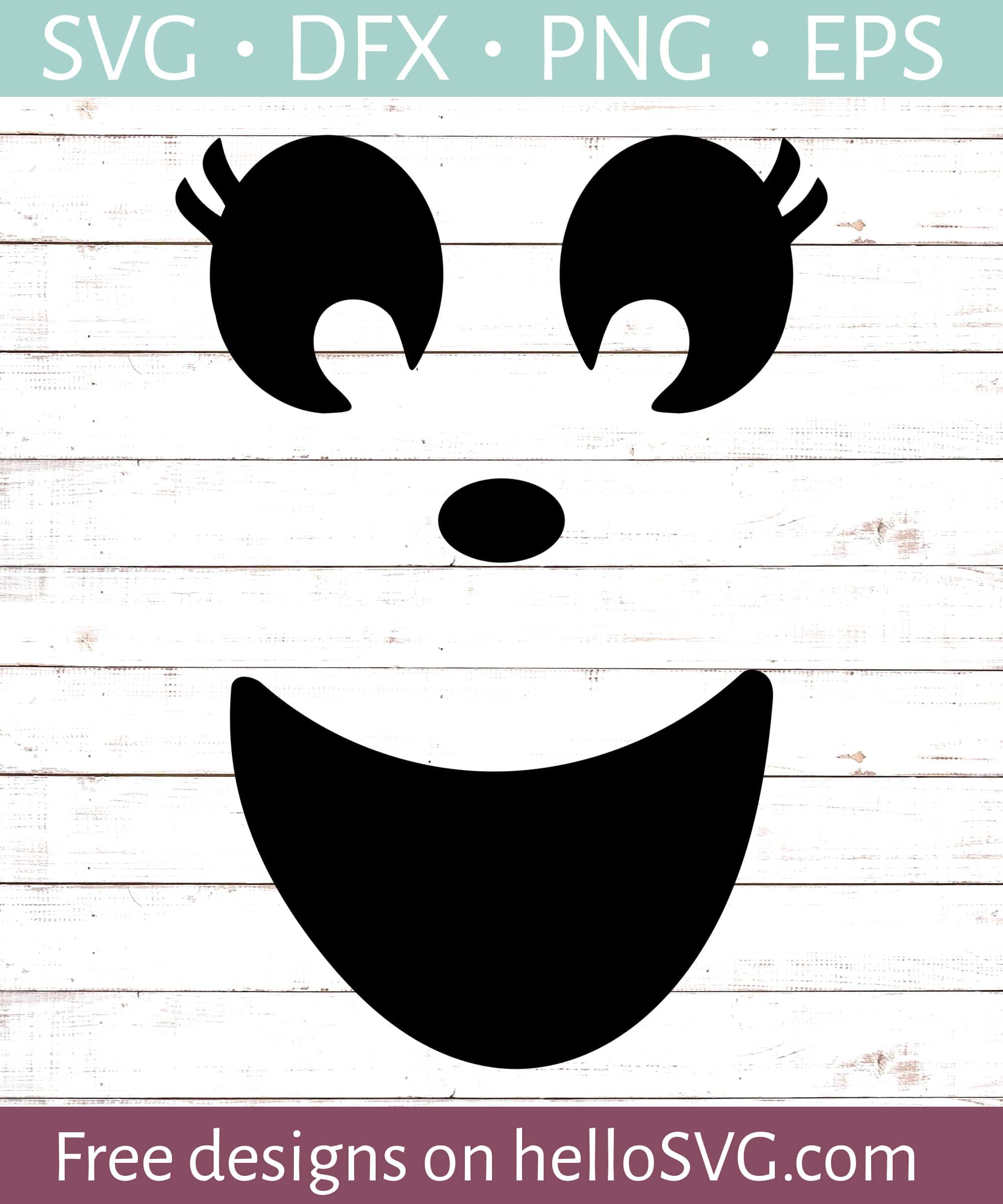 Happy Ghost Face Svg Free Svg Files Hellosvg Com
