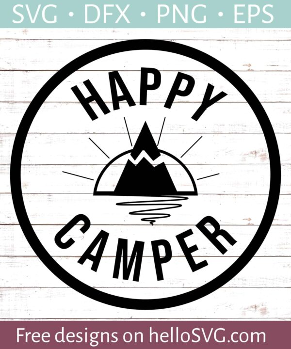 Happy Camper SVG #5