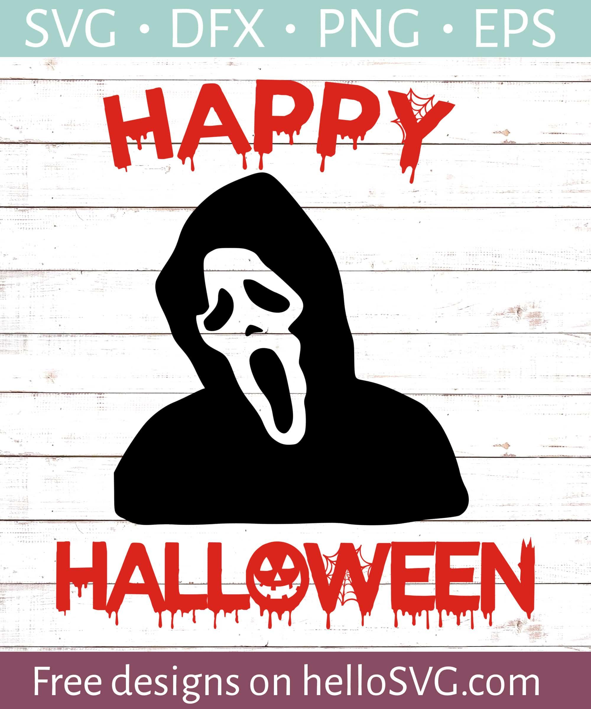 Grim Reaper Happy Halloween 2 Svg Free Svg Files Hellosvg Com