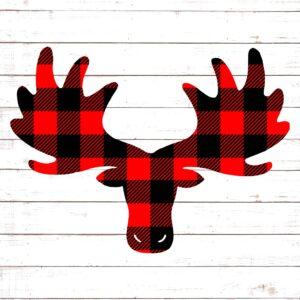 Moose Head Buffalo Plaid