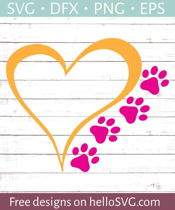 Heart and Paw Prints #1