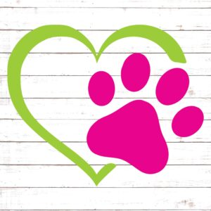 Heart and Paw Prints #2