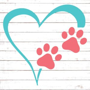Heart and Paw Prints #3