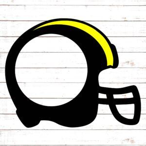 Football Helmet Monogram