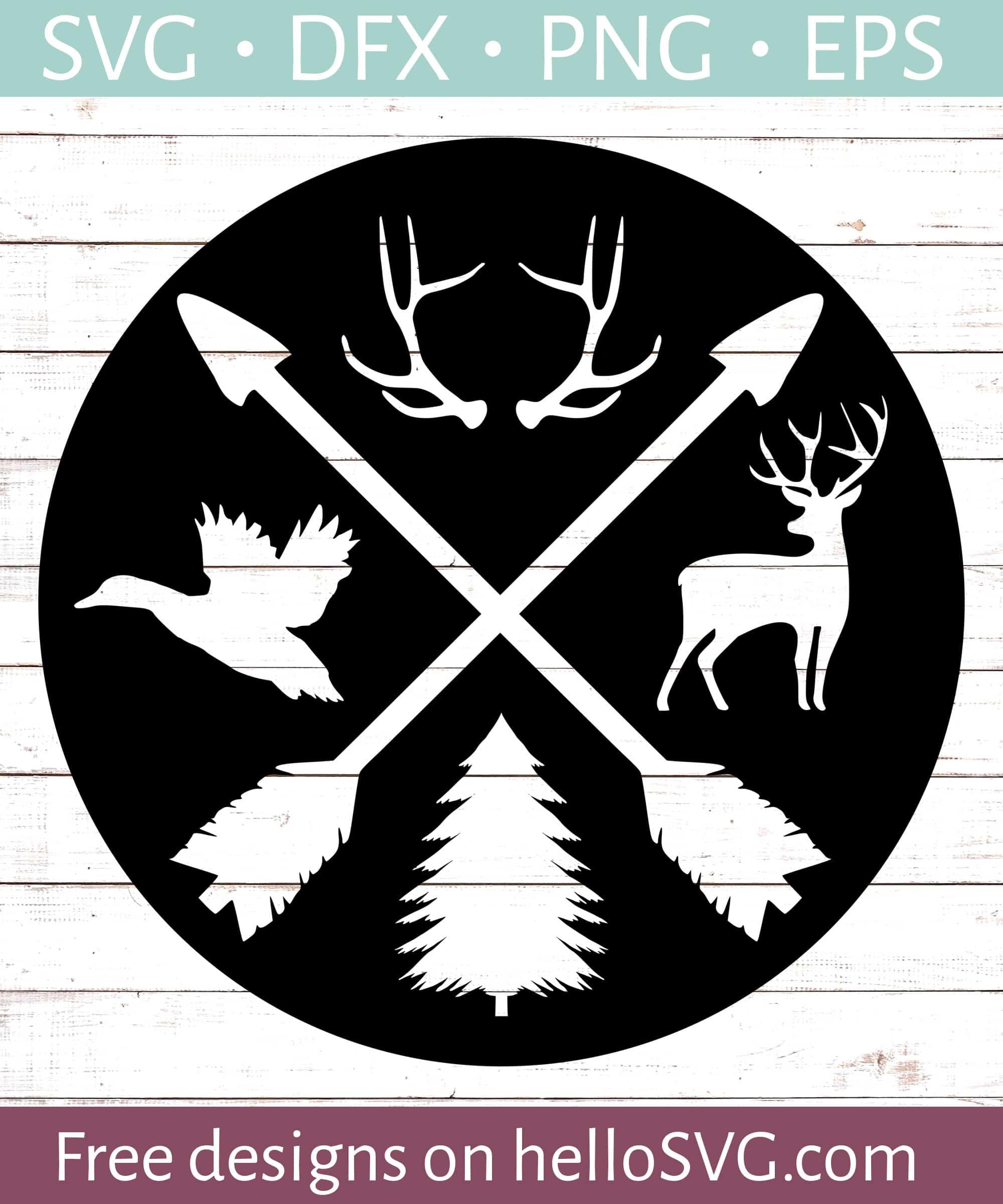 Hunting Badge Svg Svg Free Svg Files Hellosvg Com
