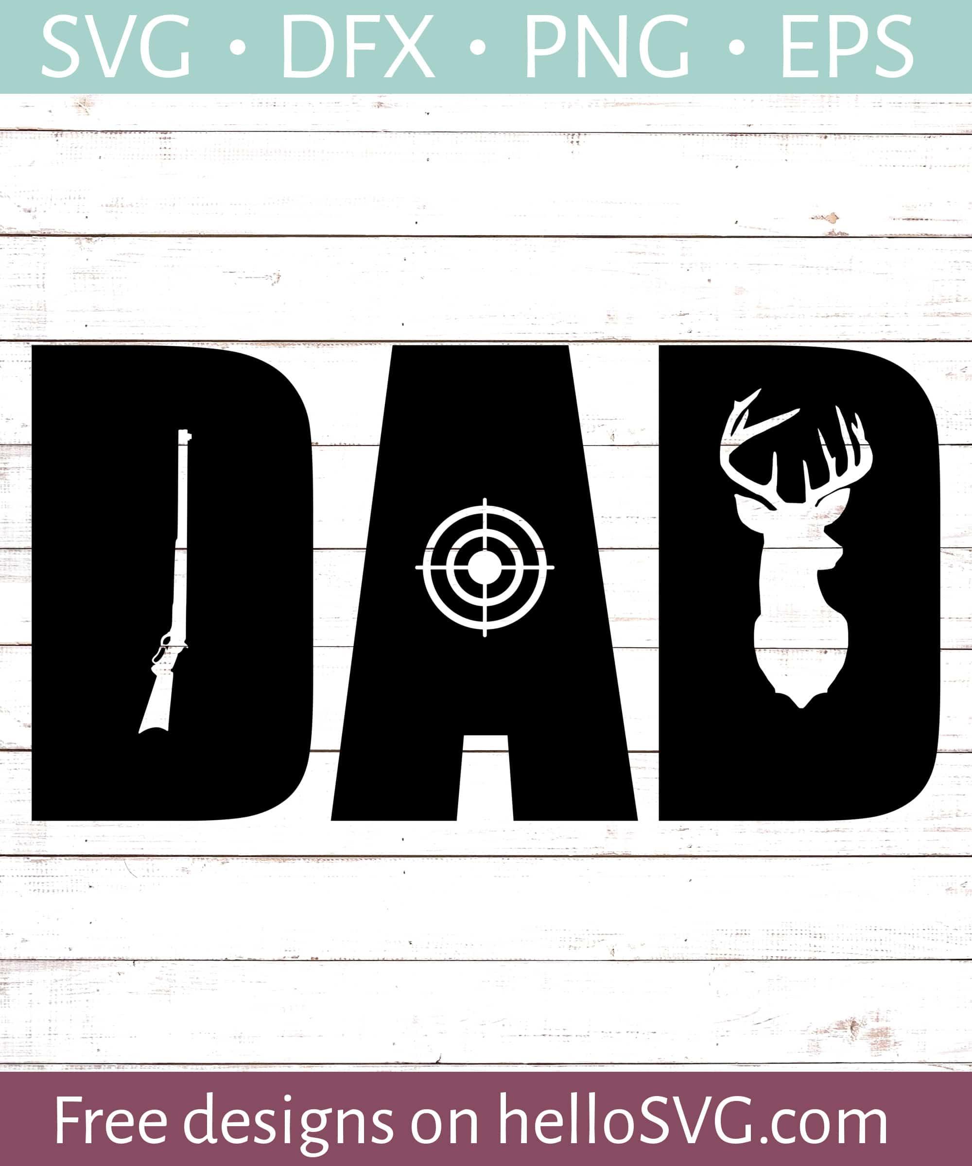 Hunting Dad Svg Free Svg Files Hellosvg Com