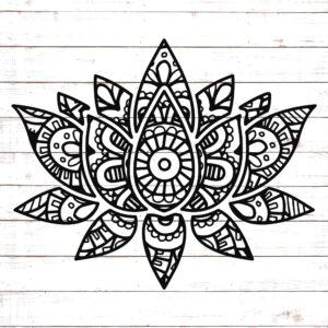Mandala Style Lotus Flower