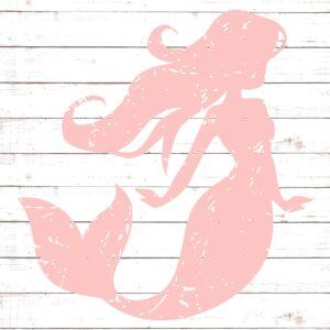 Distressed Mermaid Silhouette