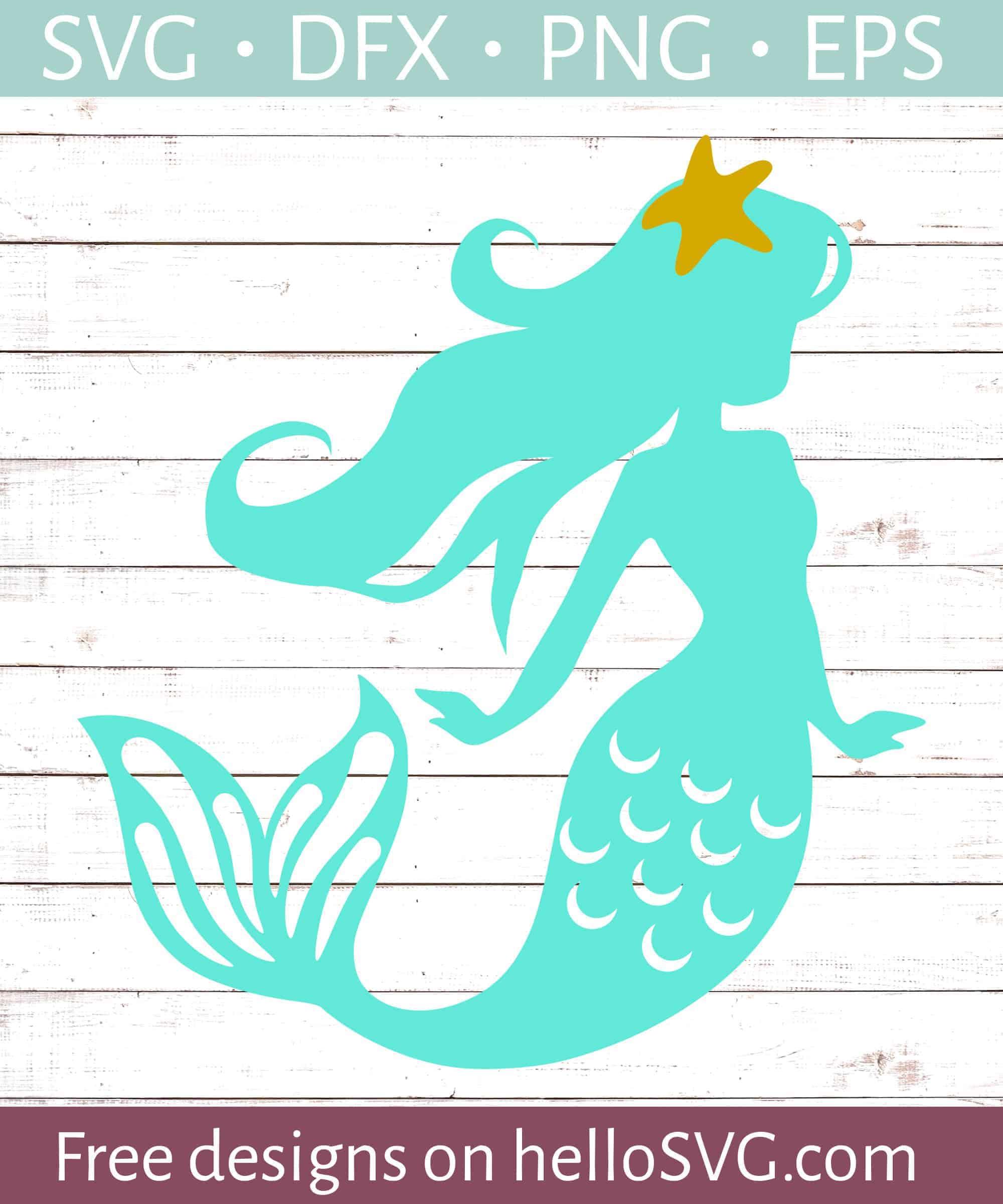 Starfish Mermaid Svg Free Svg Files Hellosvg Com
