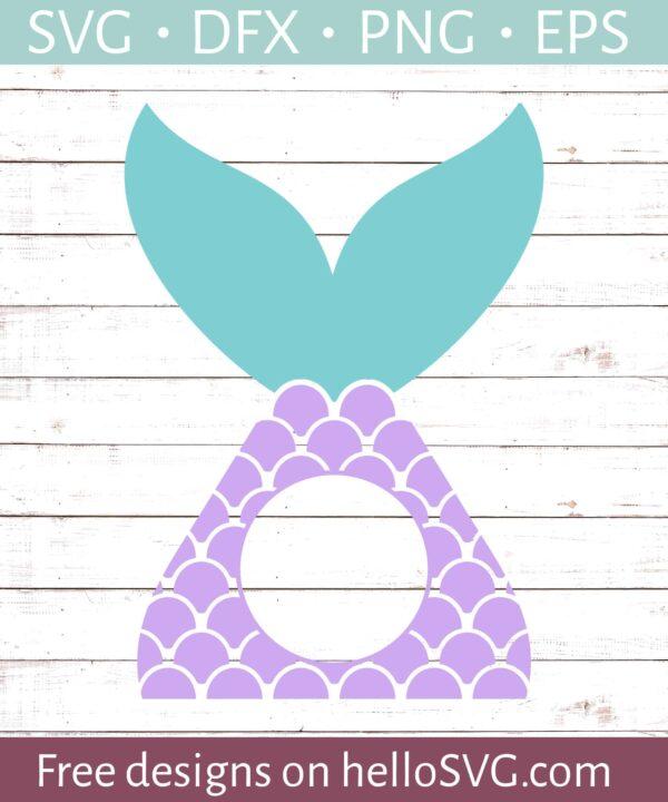 Mermaid Tail Circle Monogram