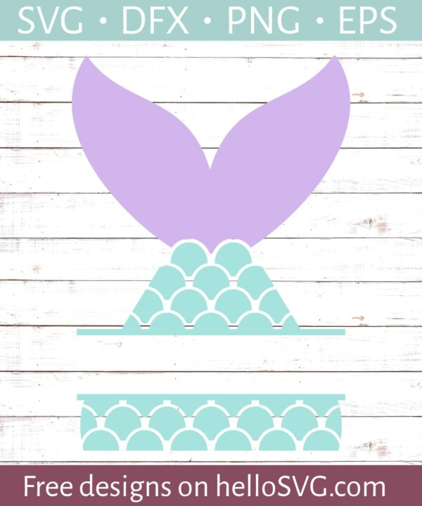Mermaid Tail Split Monogram