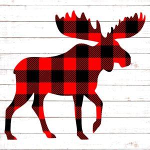 Buffalo Plaid Moose