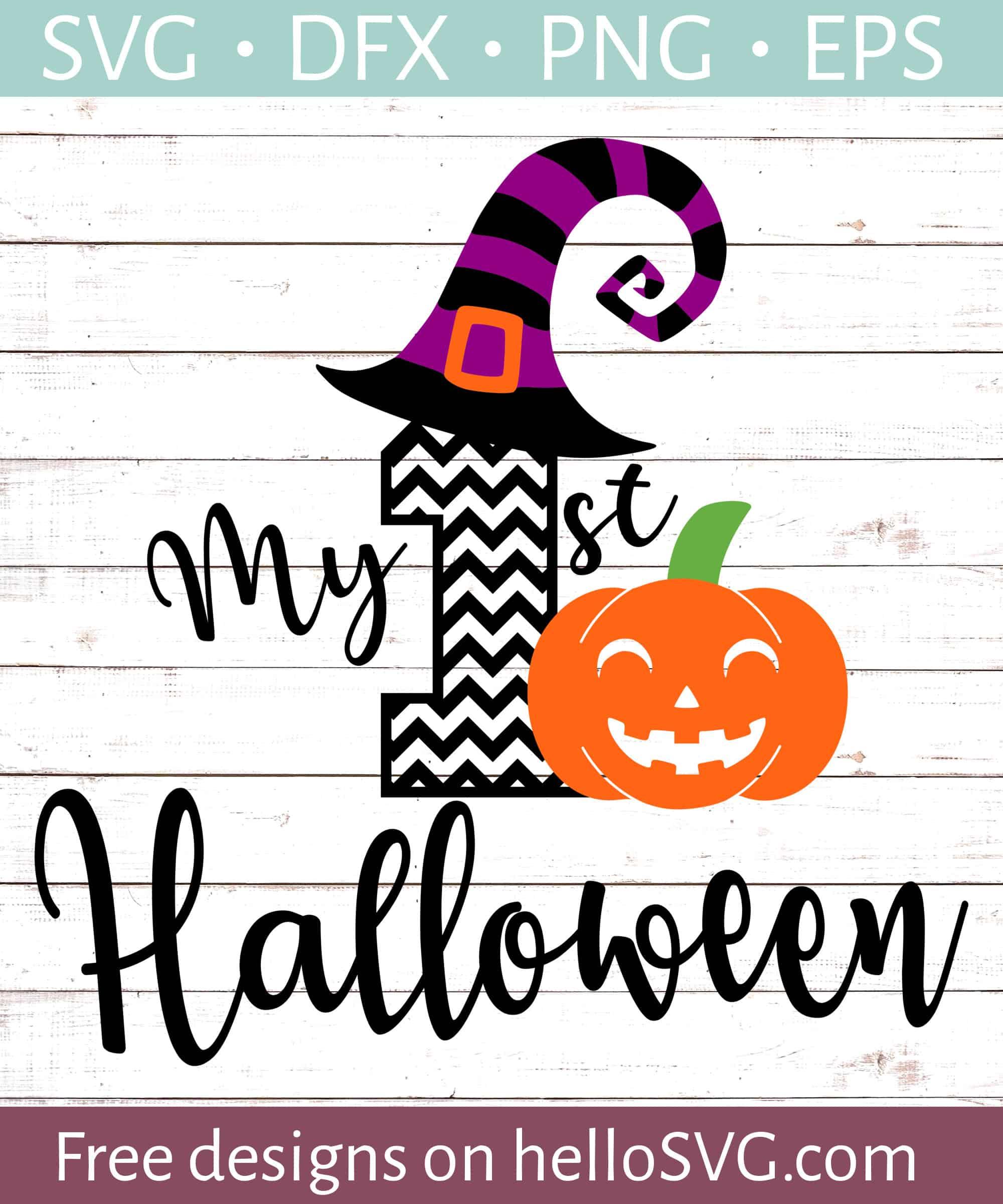My First Halloween Chevron Svg Free Svg Files Hellosvg Com