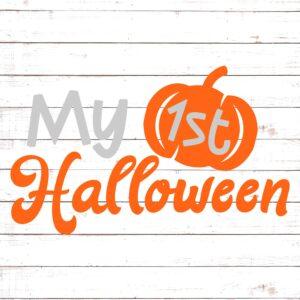 My First Halloween with Pumpkin