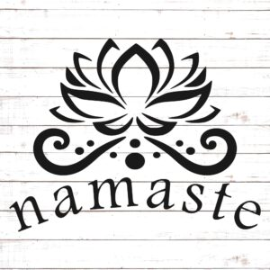 Namaste with Lotus Flower