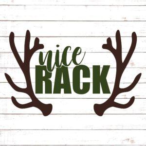 Nice Rack with Antlers