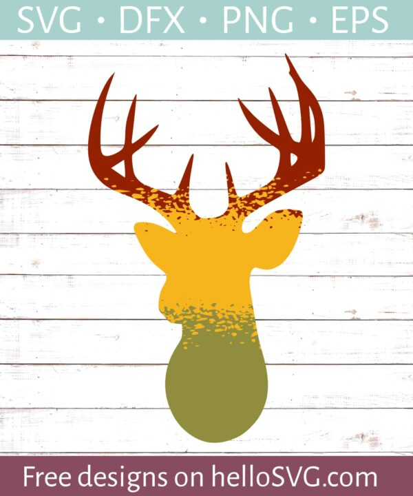 Ombre Style Deer SVG