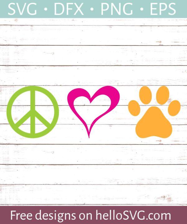 Peace Love Dog #2