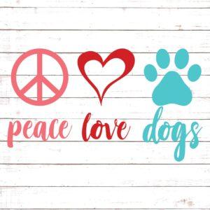 Peace Love Dog #1