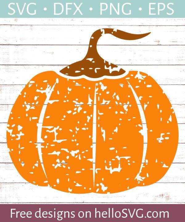 Halloween Pumpkin - Distressed