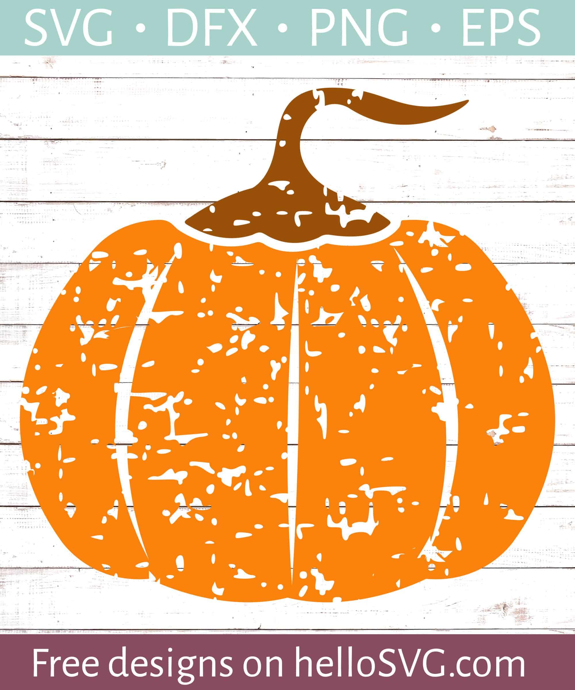Halloween Pumpkin Distressed Svg Free Svg Files Hellosvg Com