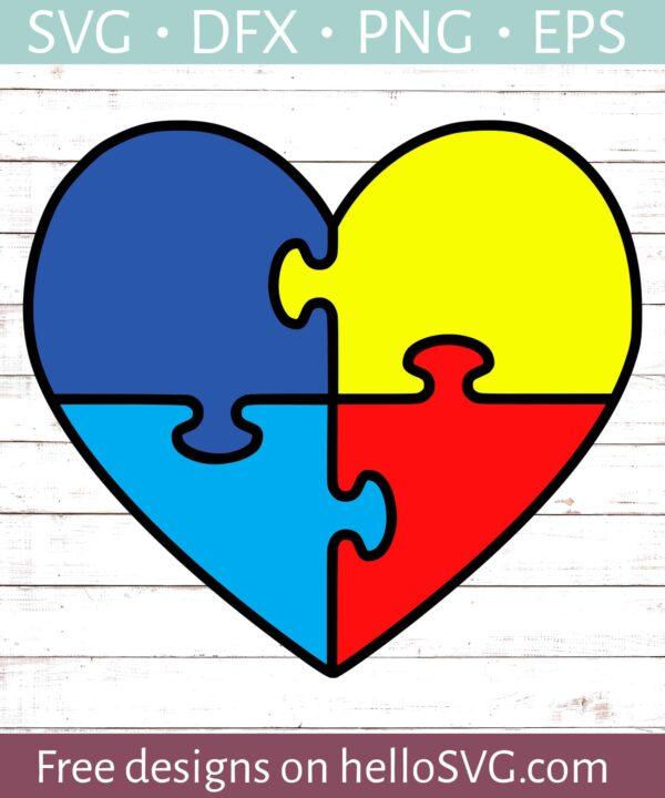 Autism Puzzle Heart #1