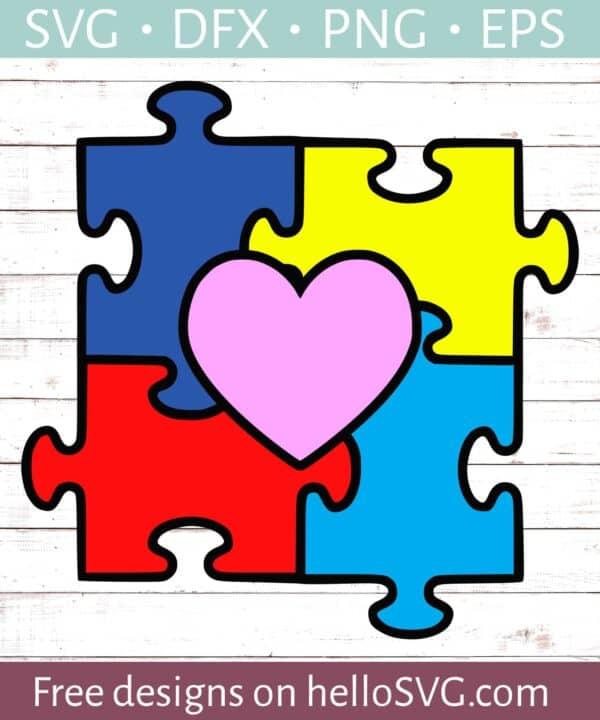 Autism Puzzle Heart #2