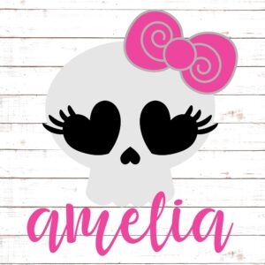 Cute Skeleton with Bow