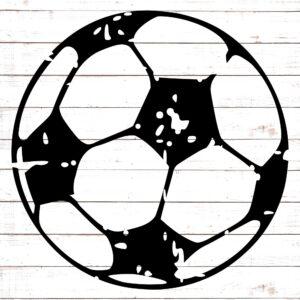 Soccer Ball - Distressed SVG