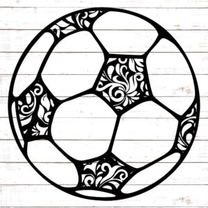 Soccer Ball with Floral Pattern