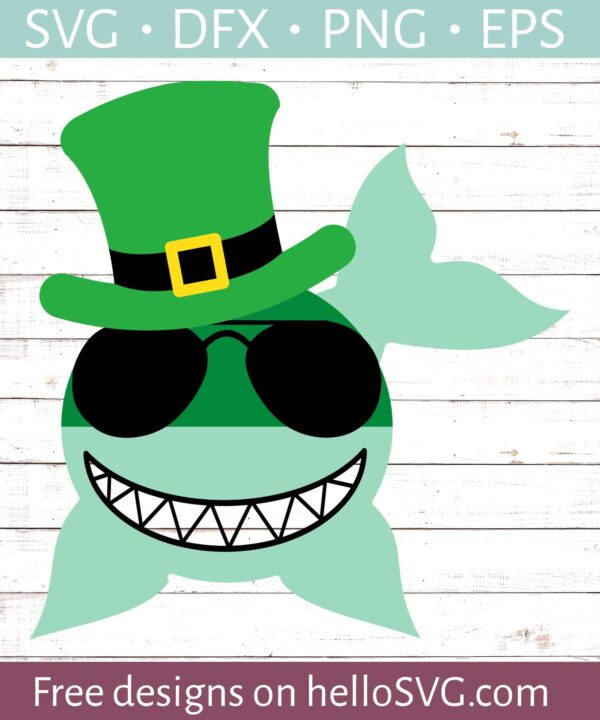 St Patricks Day Shark - Boy