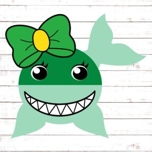 St Patricks Day Shark - Girl