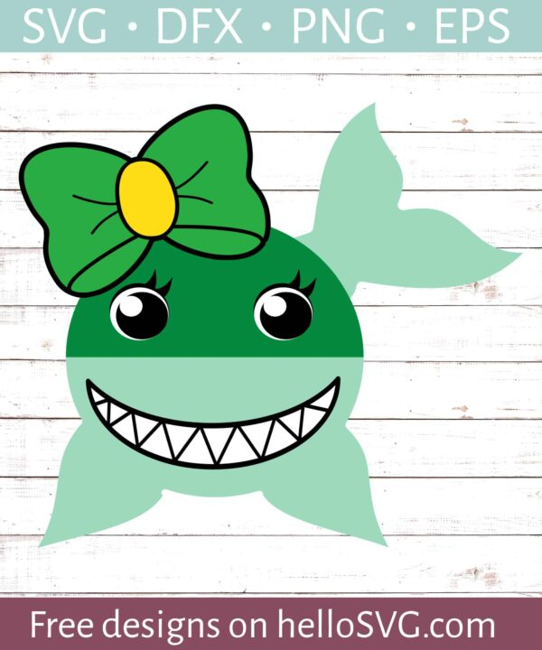 St Patricks Day Shark - Girl