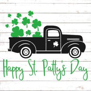 St Patricks Day Vintage Truck #1