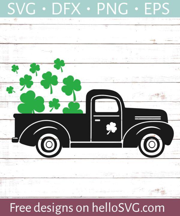 St Patricks Day Vintage Truck #2