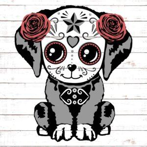 Sugar Skull Dog #1