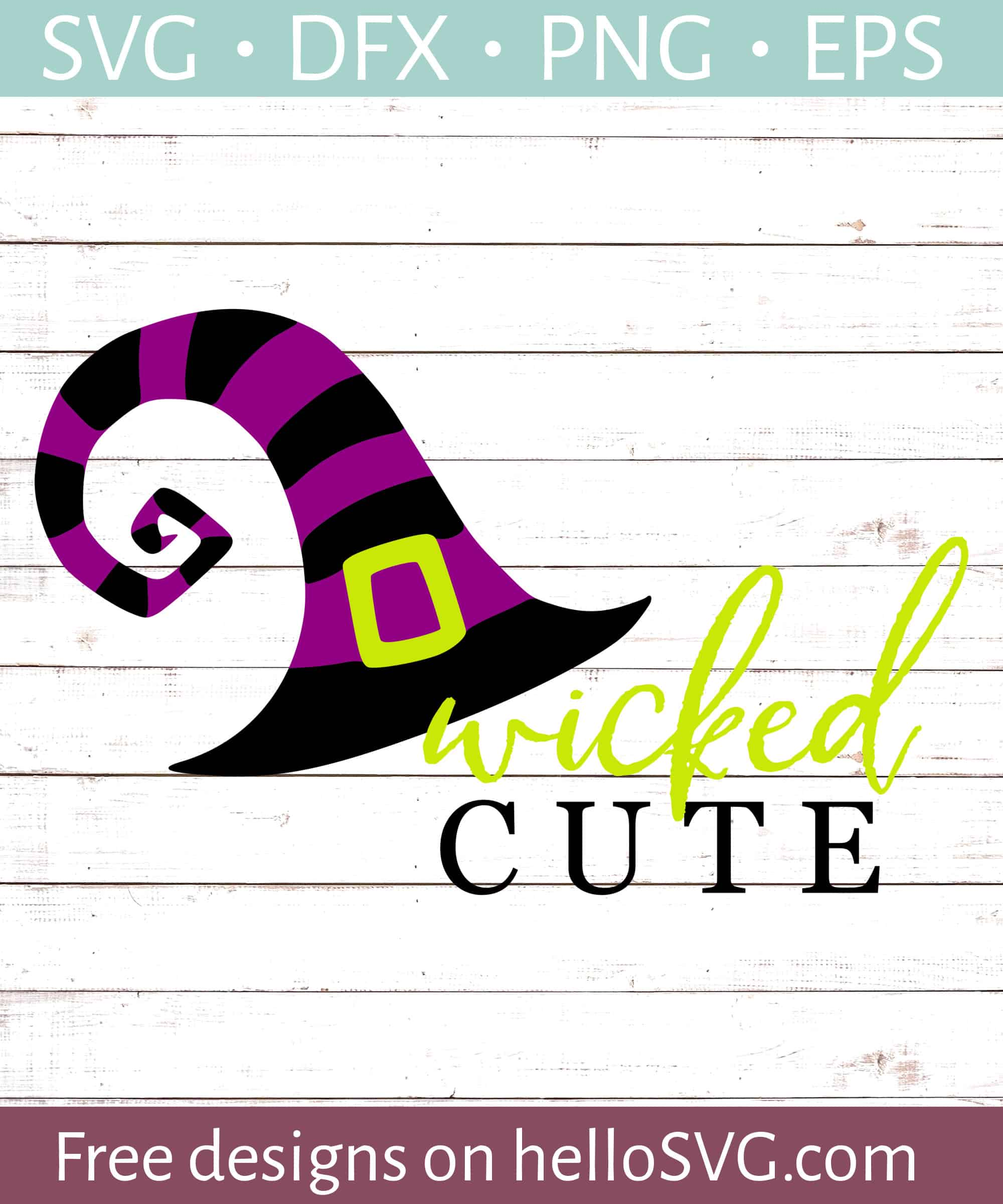 Wicked Cute Witches Hat Svg Free Svg Files Hellosvg Com