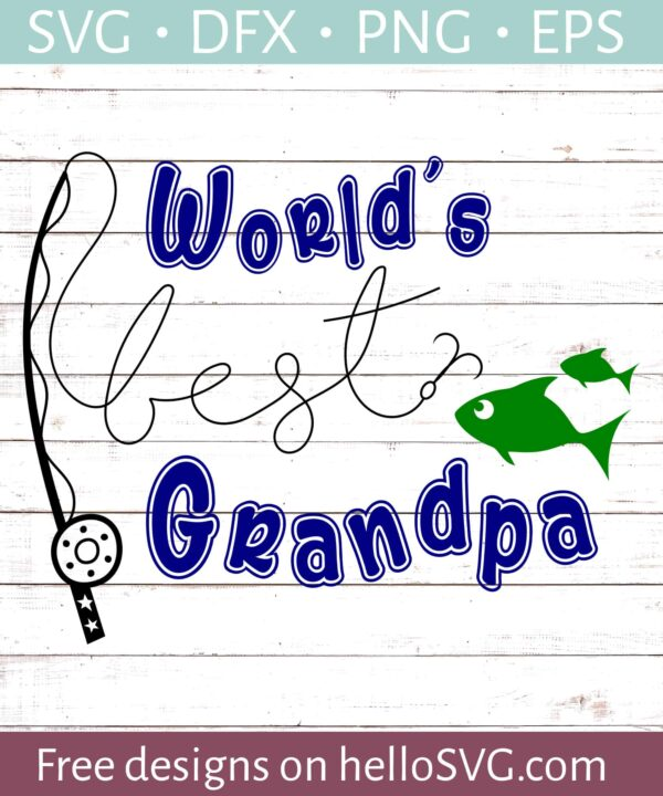 World's Best Grandpa - Fishing
