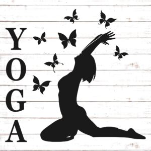 Yoga Pose with Butterflies