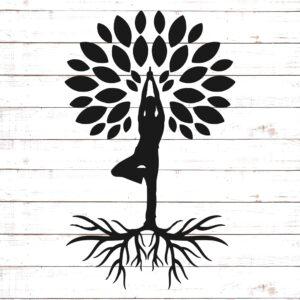 Yoga  Pose with Tree
