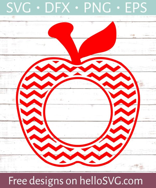 Chevron Apple Monogram