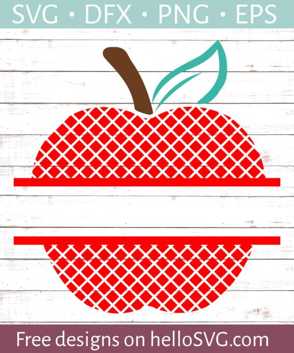 Lattice Apple Split Monogram #2