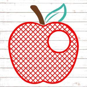Lattice Apple Small Monogram